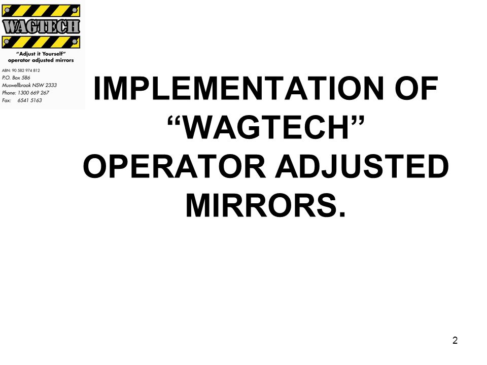 1 Adjust it Yourself the operator adjusted mirror