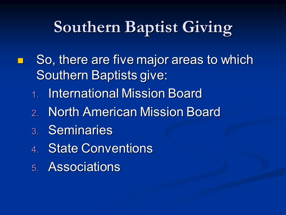 The Cooperative Program To simplify the giving process and maximize our resources, the SBC formed the Cooperative Program.