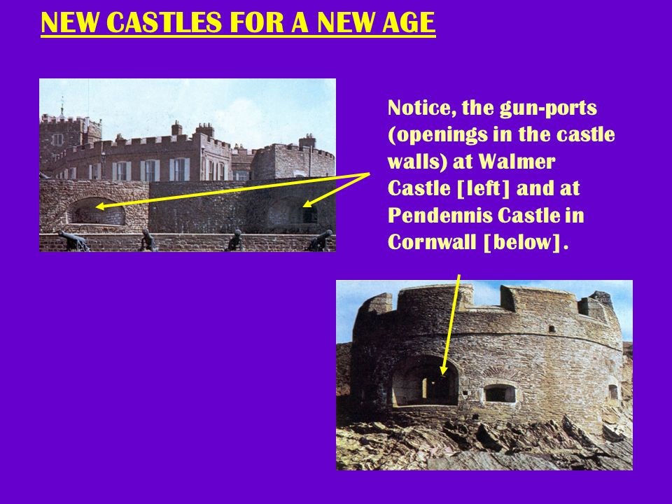 CROSS-SECTION OF DEAL CASTLE In what ways is this castle designed differently from a normal castle? Why?