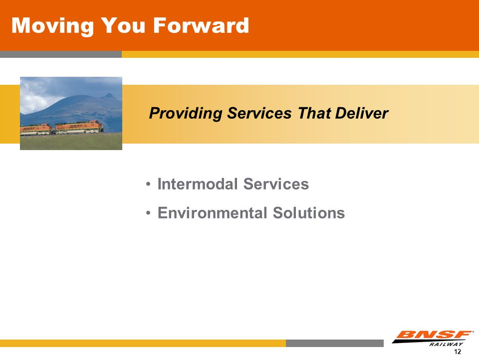 12 Moving You Forward Intermodal Services Environmental Solutions Providing Services That Deliver