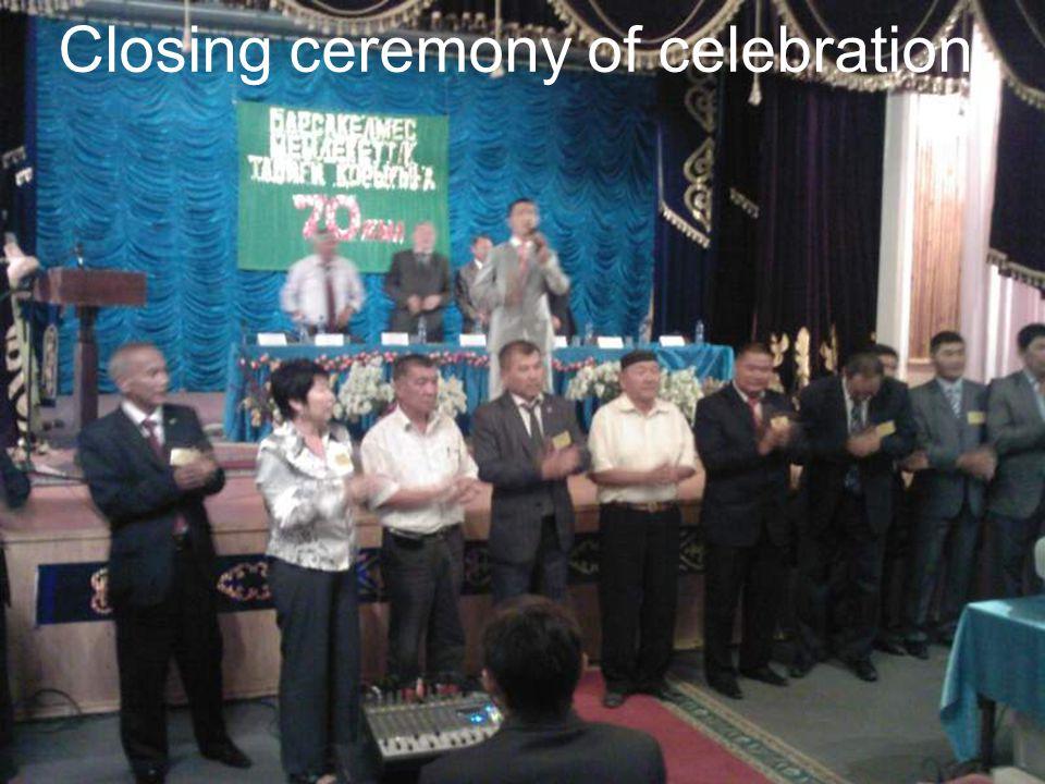 Closing ceremony of celebration
