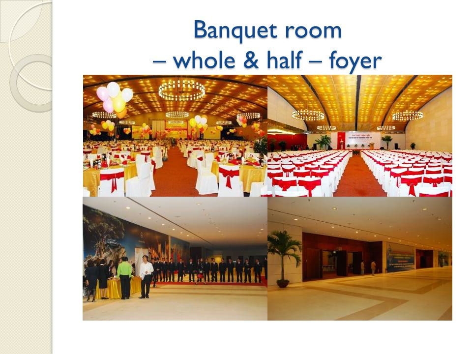 Banquet room – whole & half – foyer