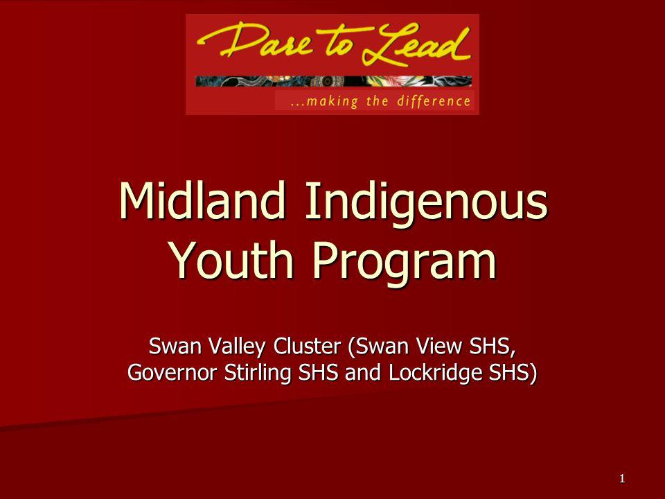 1 Midland Indigenous Youth Program Swan Valley Cluster (Swan View SHS, Governor Stirling SHS and Lockridge SHS)