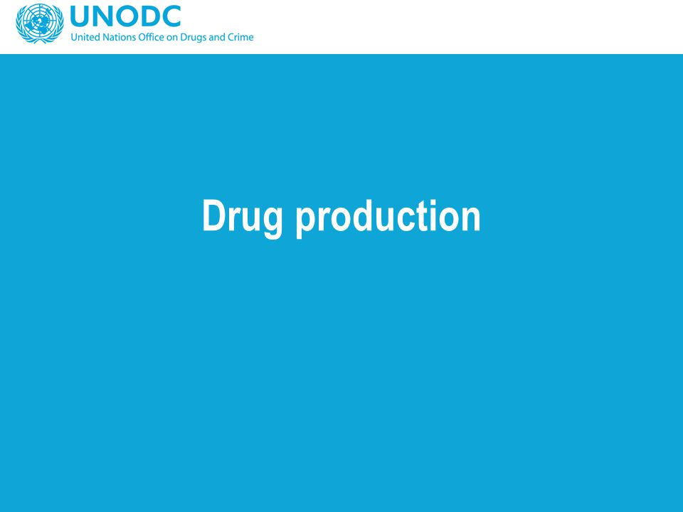 Opium and cocaine production: Methods developed, reasonable certainty Opium Cocaine