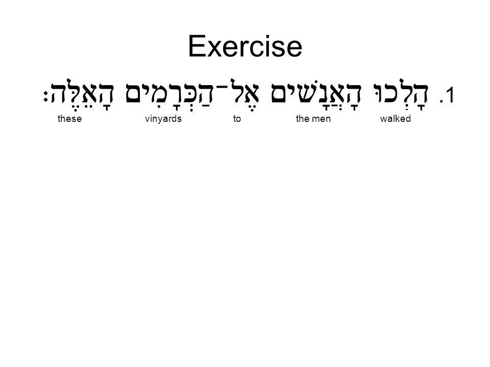 Exercise.1 thesevinyardstothe menwalked