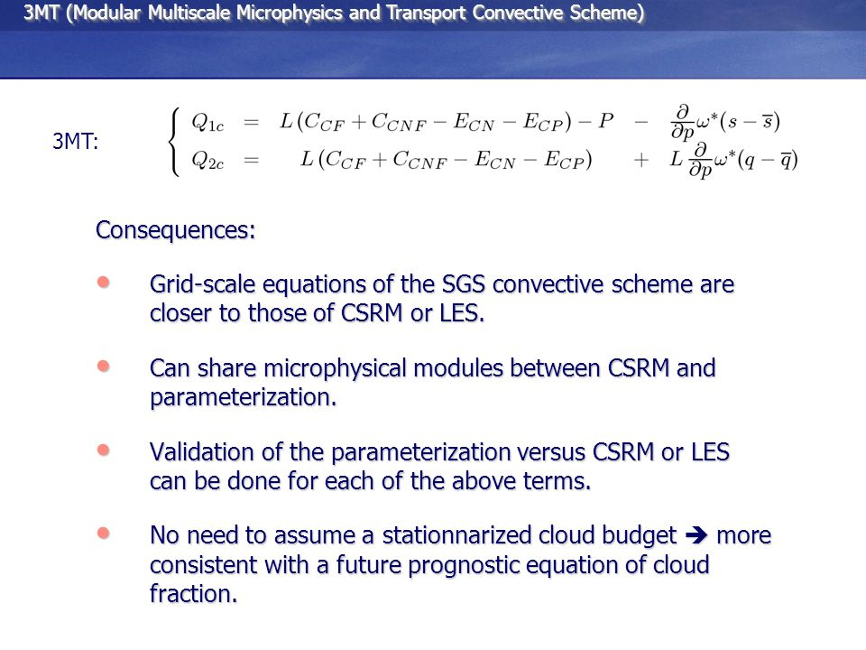 Rico : high resolution composite case EDKF (Pergaud, Malardel, Masson) with subgrid autoconversion Rain specific content (g/kg) AROME developments Subgrid-scale shallow convection: S.