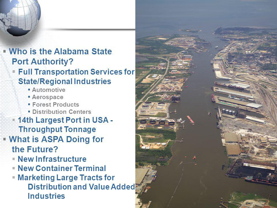 Who is the Alabama State Port Authority.