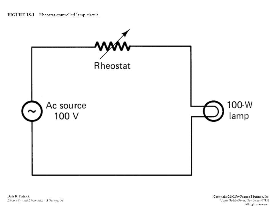 FIGURE 18-1 Rheostat-controlled lamp circuit. Dale R.