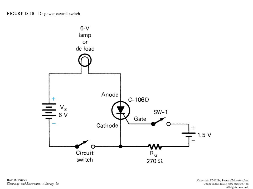 FIGURE 18-10 Dc power control switch. Dale R.