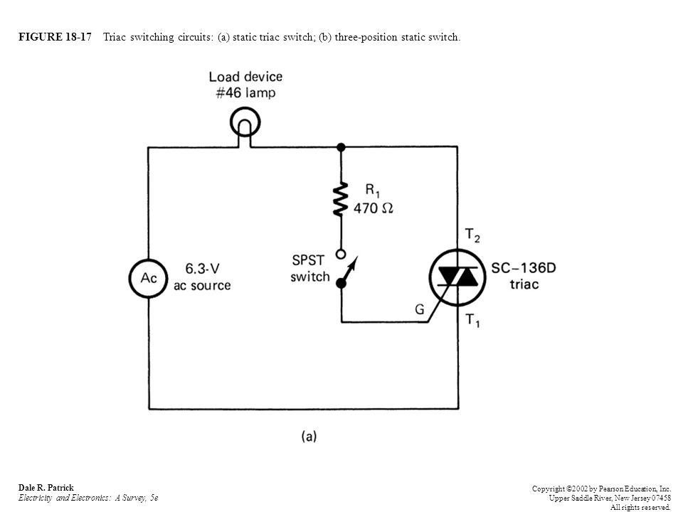 FIGURE 18-17 Triac switching circuits: (a) static triac switch; (b) three-position static switch.