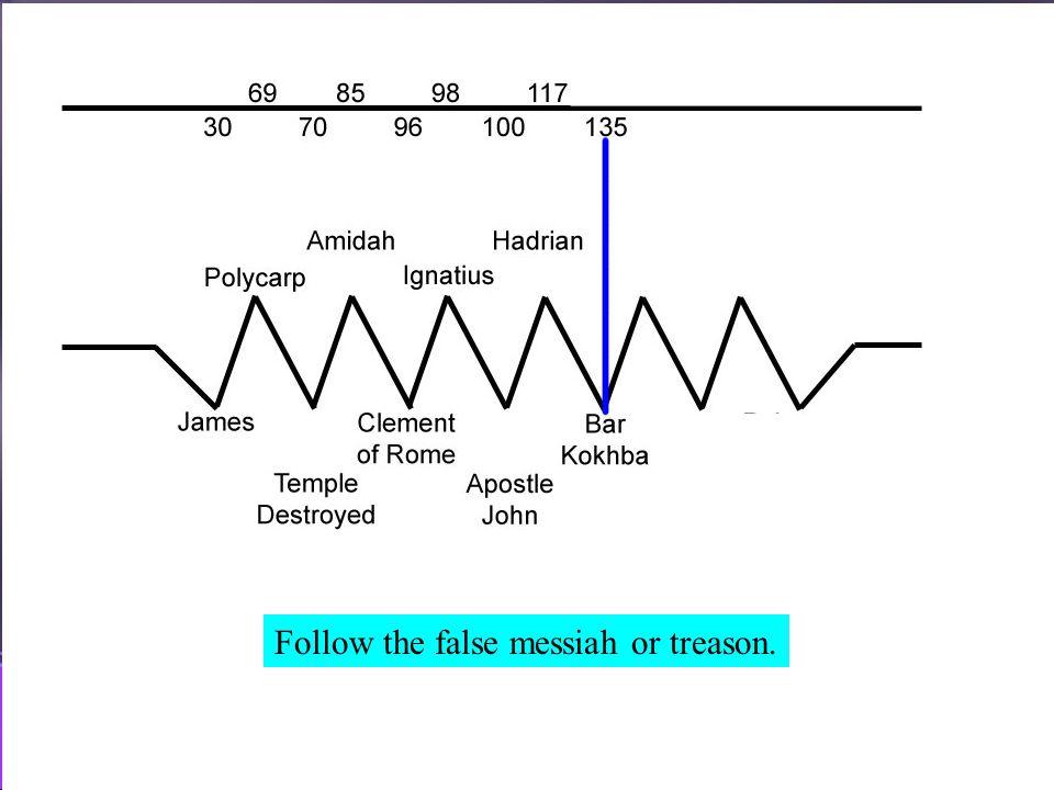 May 7, 2011 http://hodf.org 74 Follow the false messiah or treason.