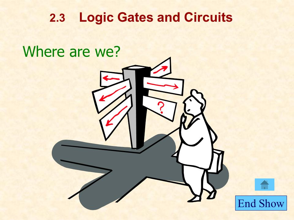 Where are we 2.3 Logic Gates and Circuits End Show