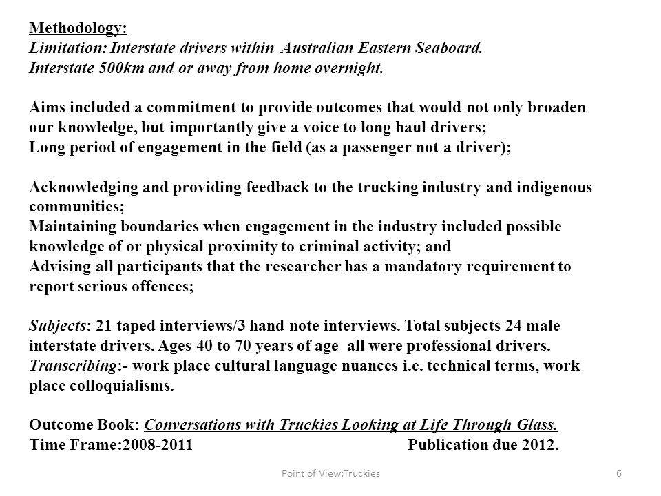 Truck work and governments Import and export:- Federal economic statements 7Point of View:Truckies