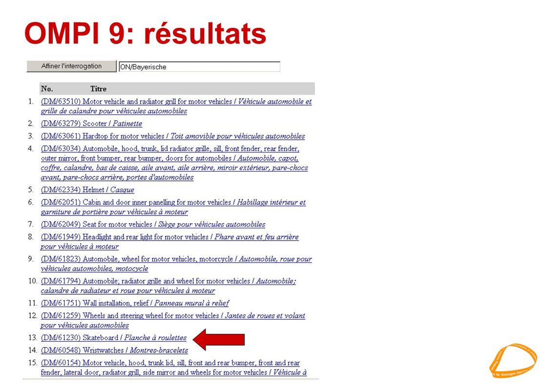 OMPI 9: résultats