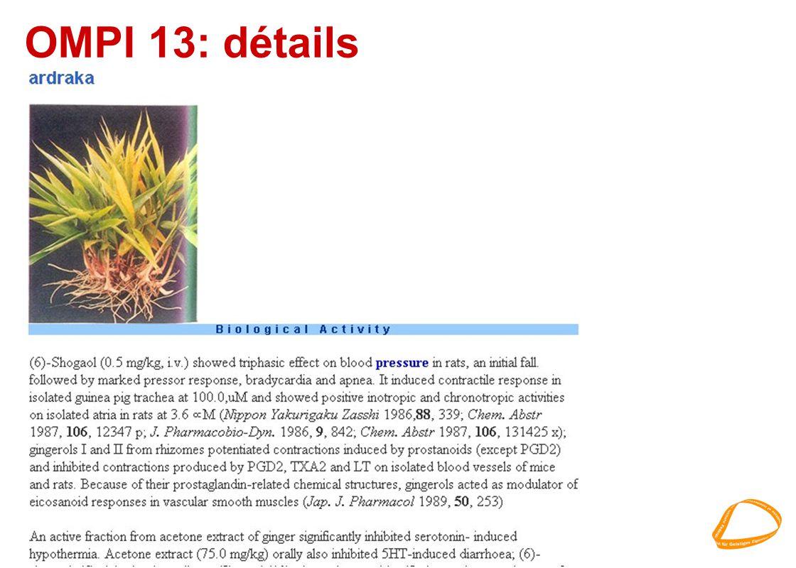 OMPI 13: détails