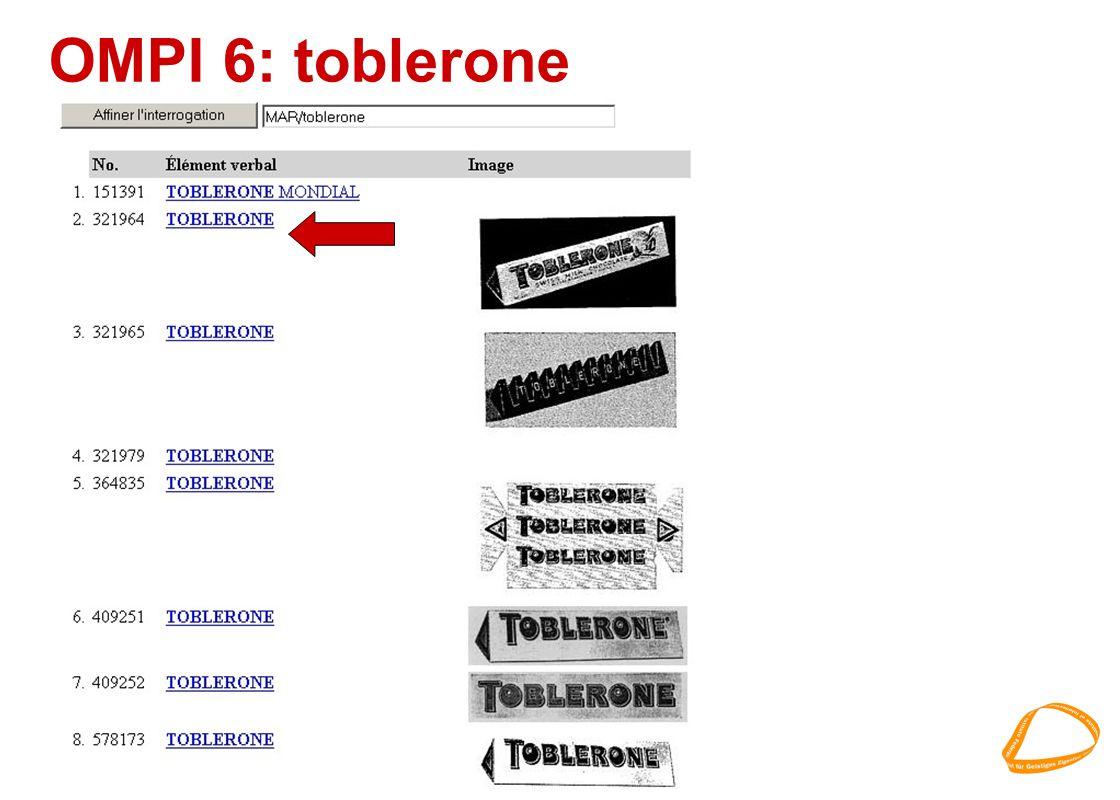 OMPI 6: toblerone