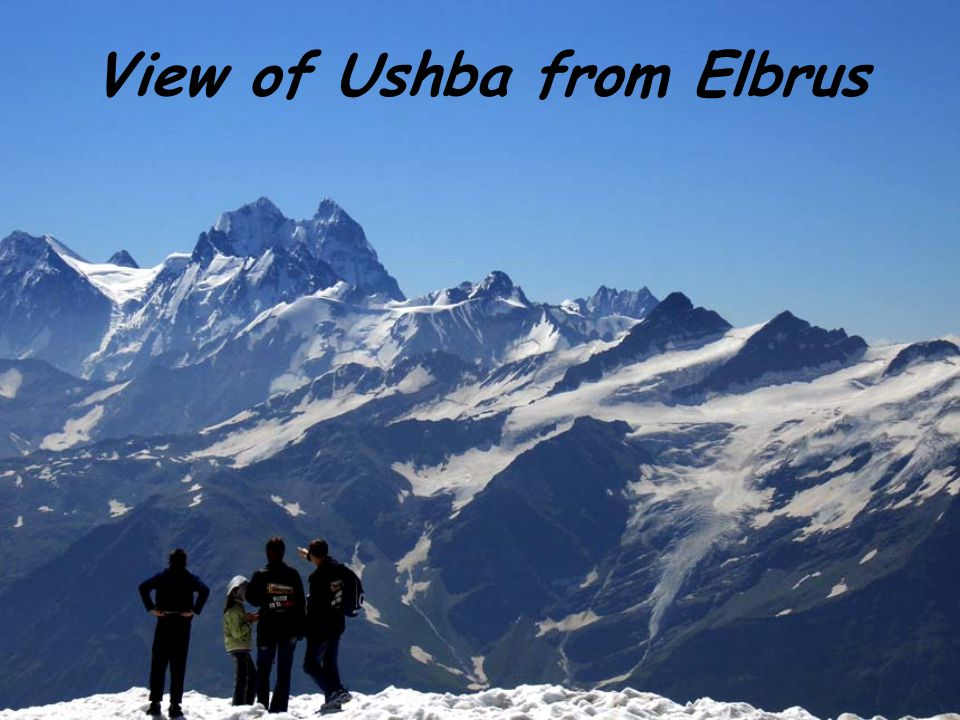 View of Ushba from Elbrus