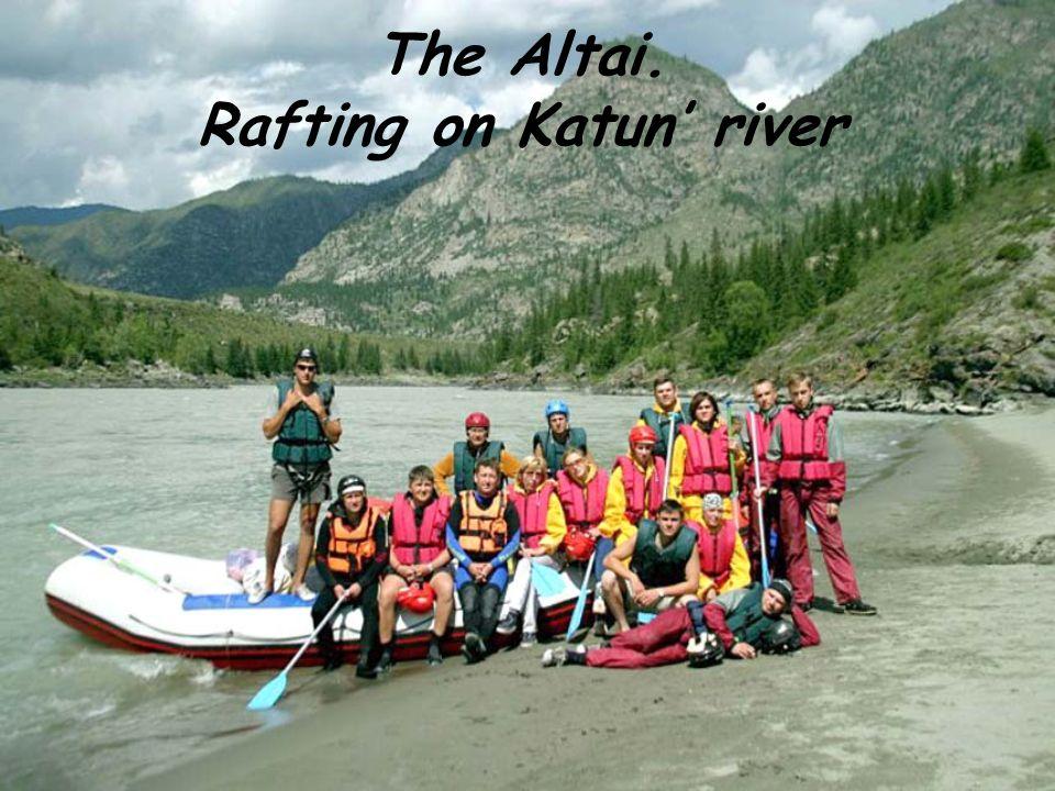 The Altai. Rafting on Katun river