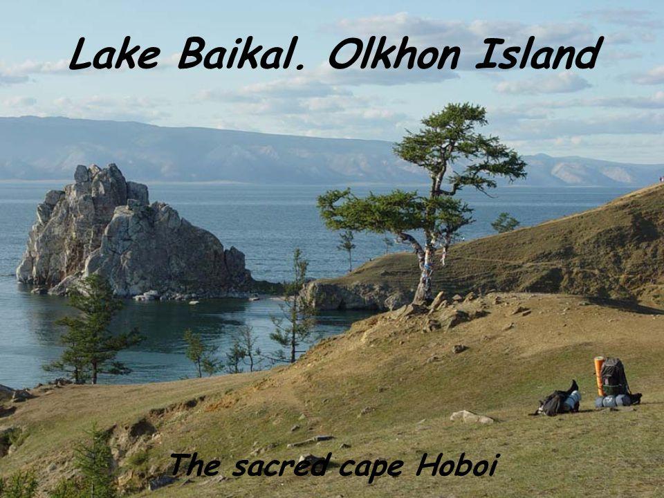 Lake Baikal. Olkhon Island The sacred cape Hoboi