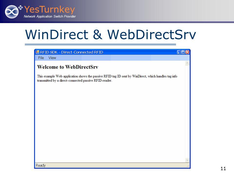 YesTurnkey Network Application Switch Provider 11 WinDirect & WebDirectSrv