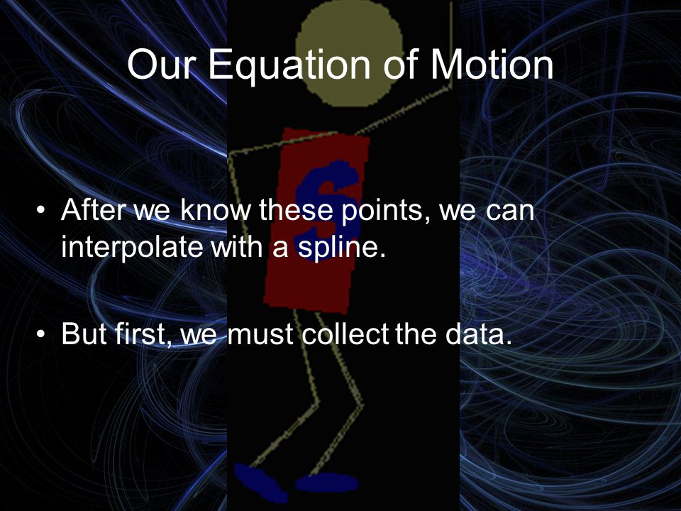 Our Equation of Motion But wait.