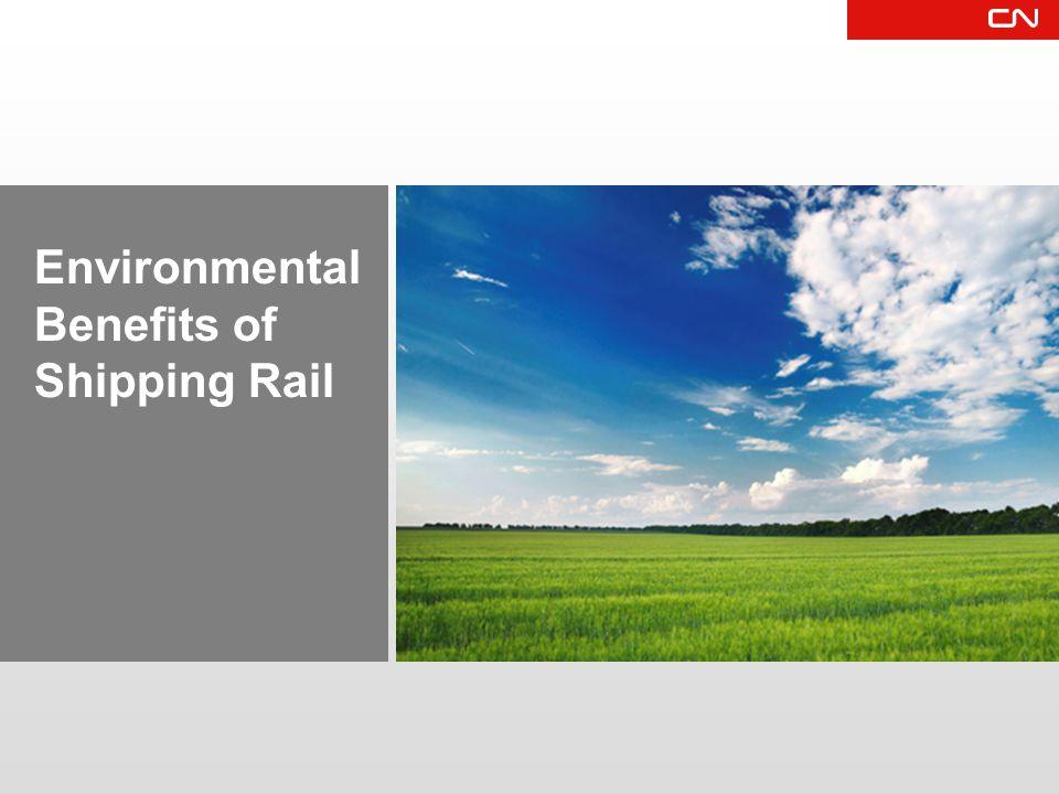 Environmental Benefits of Shipping Rail