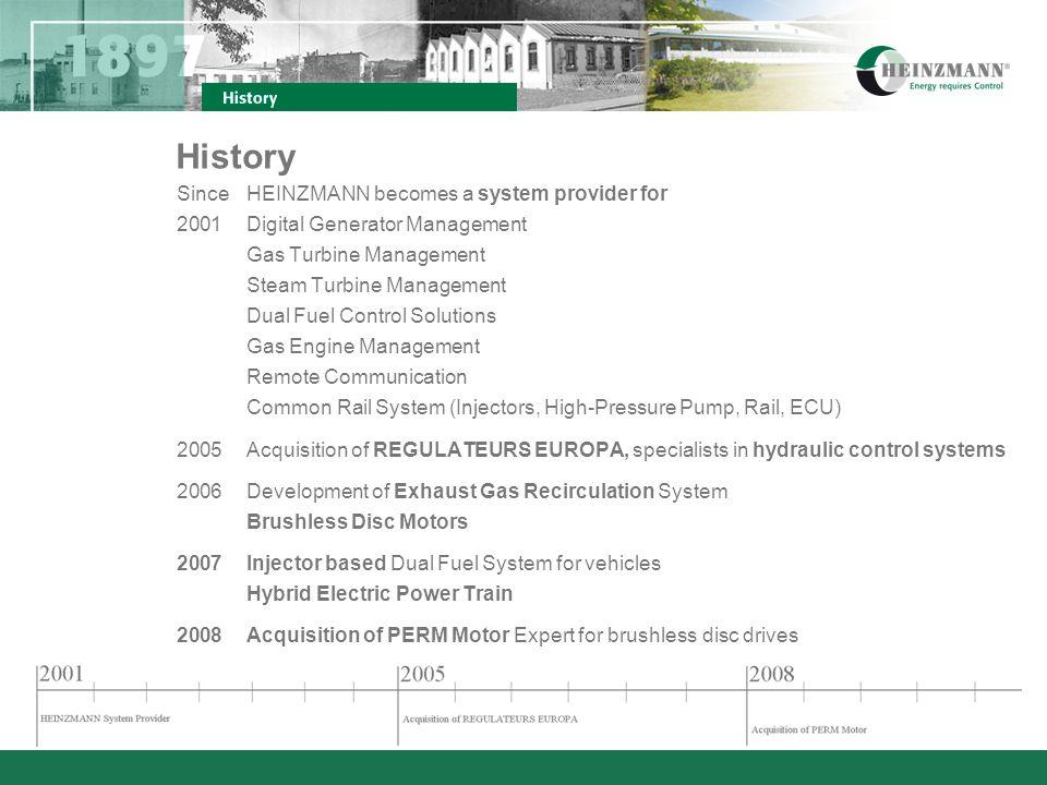 SinceHEINZMANN becomes a system provider for 2001Digital Generator Management Gas Turbine Management Steam Turbine Management Dual Fuel Control Soluti