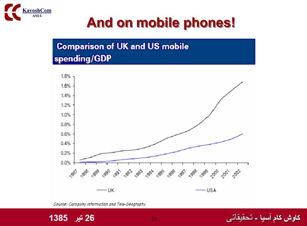 کاوش کام آسیا - تحقیقاتی کاوش کام آسیا - تحقیقاتی 26 تیر 1385 20 And on mobile phones!