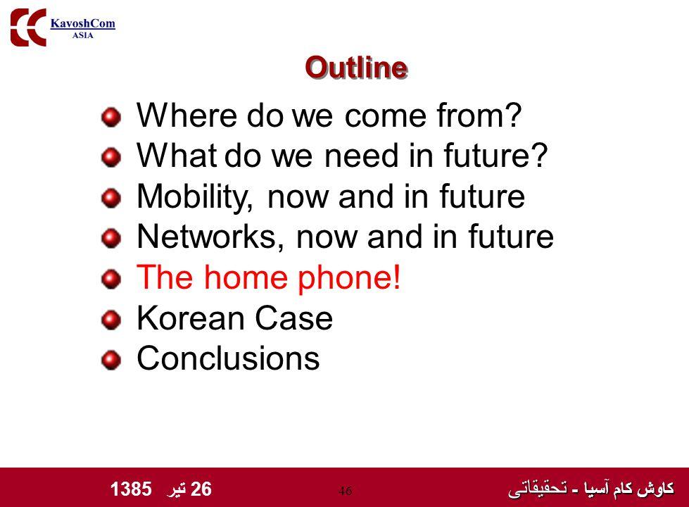 کاوش کام آسیا - تحقیقاتی کاوش کام آسیا - تحقیقاتی 26 تیر 1385 46 Where do we come from.