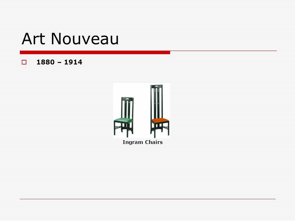 Art Nouveau 1880 – 1914 Ingram Chairs