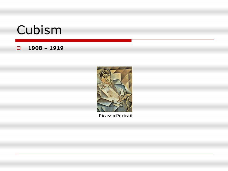 Cubism 1908 – 1919 Picasso Portrait