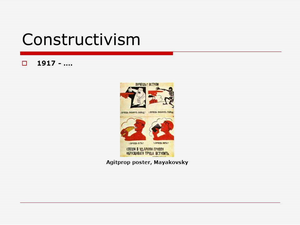 Constructivism 1917 - …. Agitprop poster, Mayakovsky