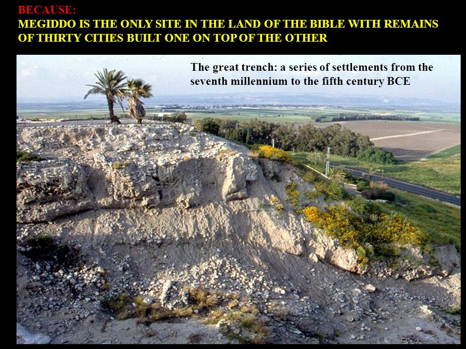 BECAUSE: MEGIDDO WAS THE SCENE OF MANY BATTLES THAT DECIDED THE FATE OF NATIONS AND EMPIRES Pharaoh Thutmose III defeated a coalition of Canaanite kings at Megiddo in the 15 th century BCE and established the Egyptian empire in Asia.
