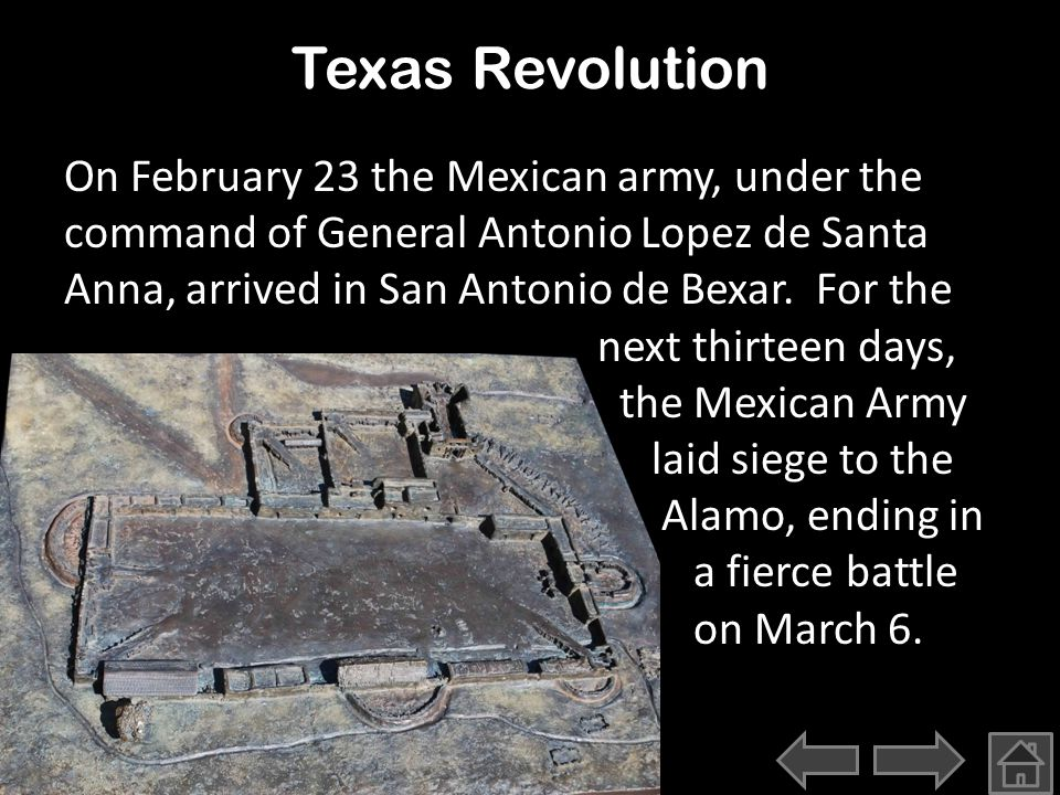 Texas Revolution In 1834, Congressman Davy Crockett was writing about moving to Texas if Van Buren were elected President.