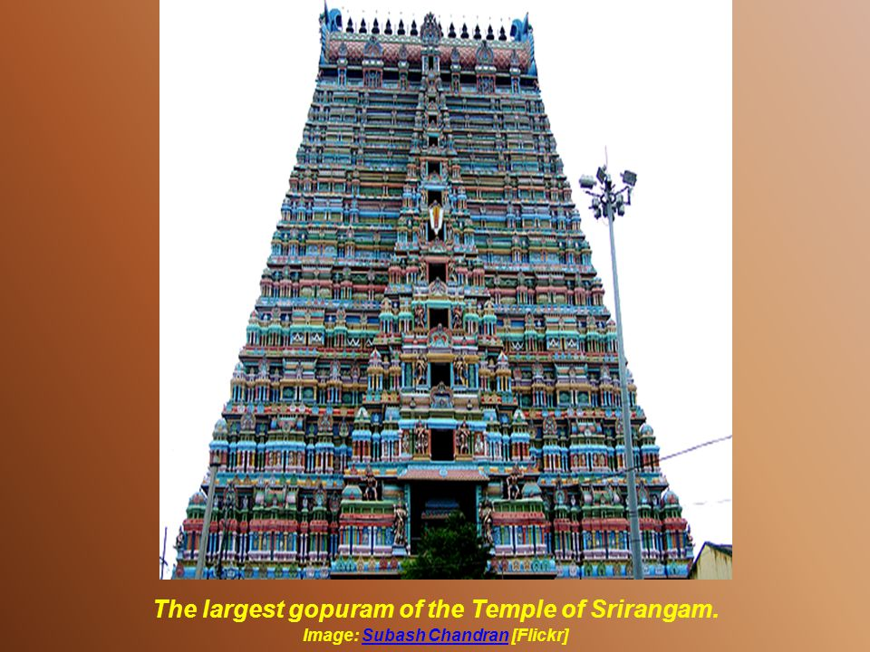 Vishnu Temple of Srirangam – INDIA Image:[Picasaweb]