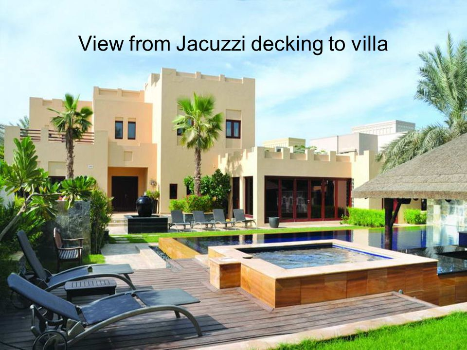 View from Jacuzzi decking to villa