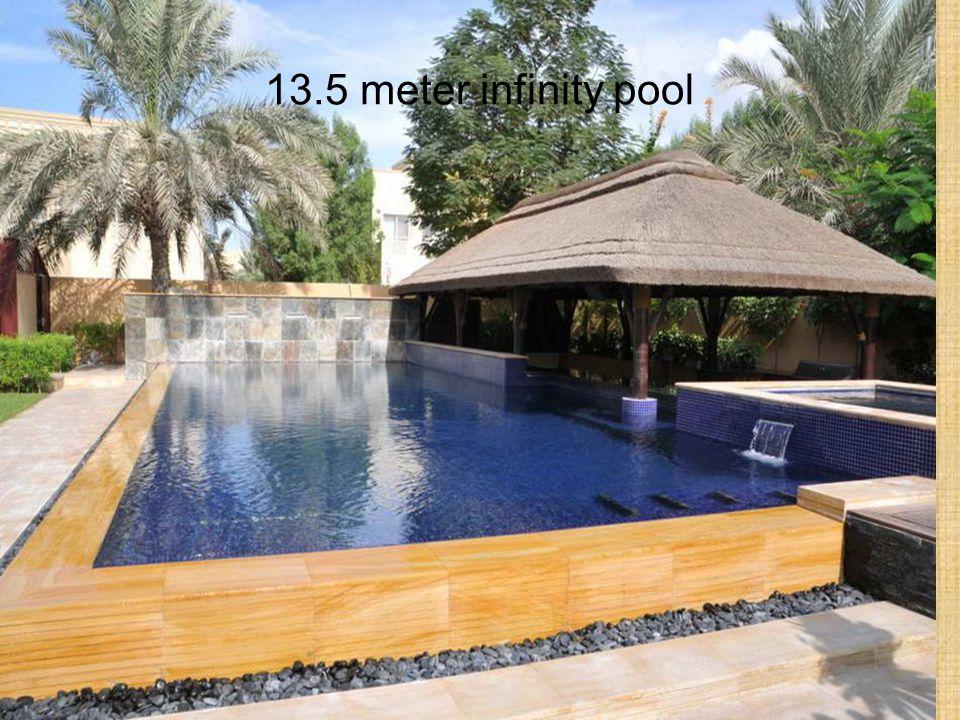 13.5 meter infinity pool