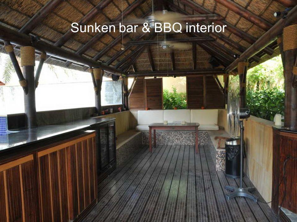 Sunken bar & BBQ interior