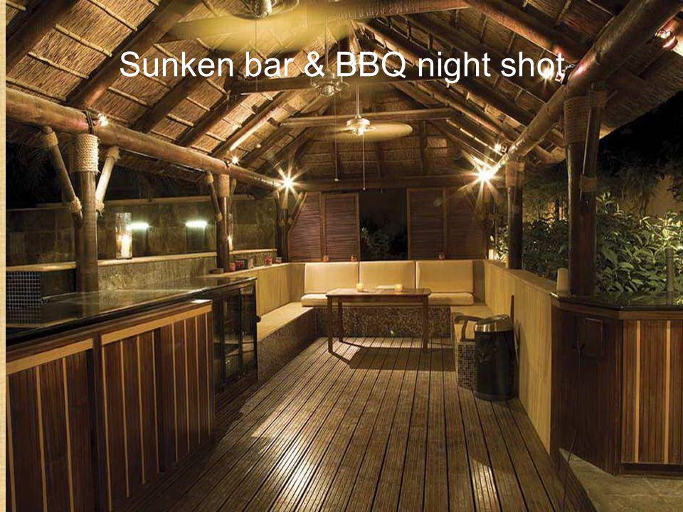 Sunken bar & BBQ night shot