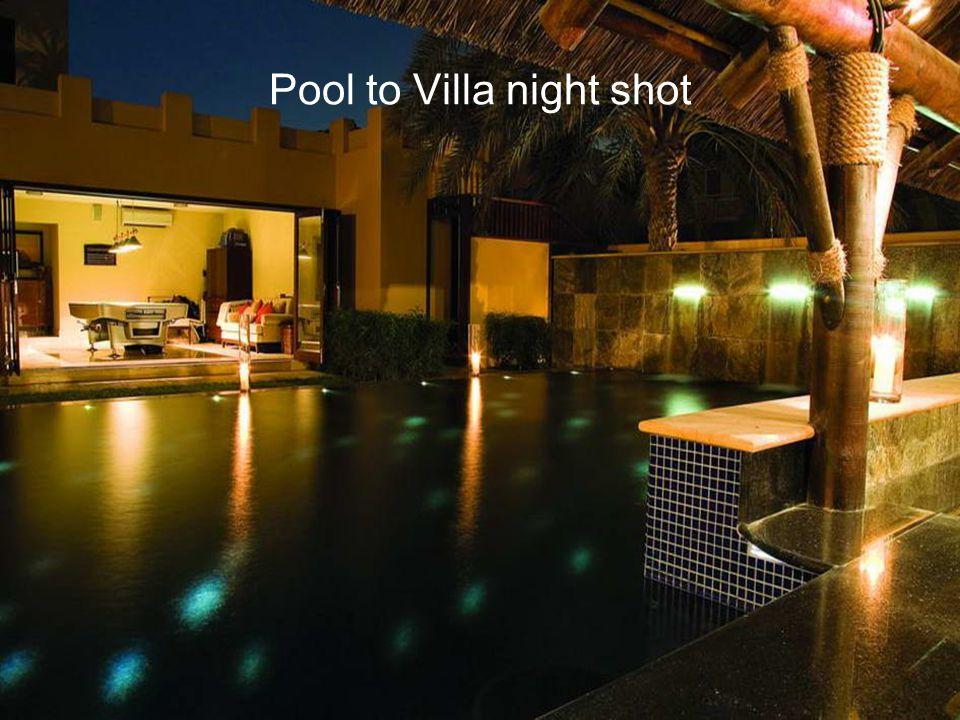 Pool to Villa night shot