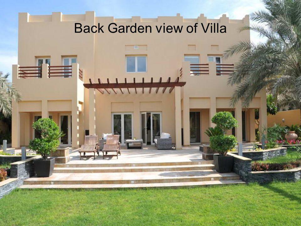 Back Garden view of Villa