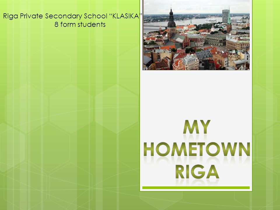 Riga Private Secondary School KLASIKA 8 form students