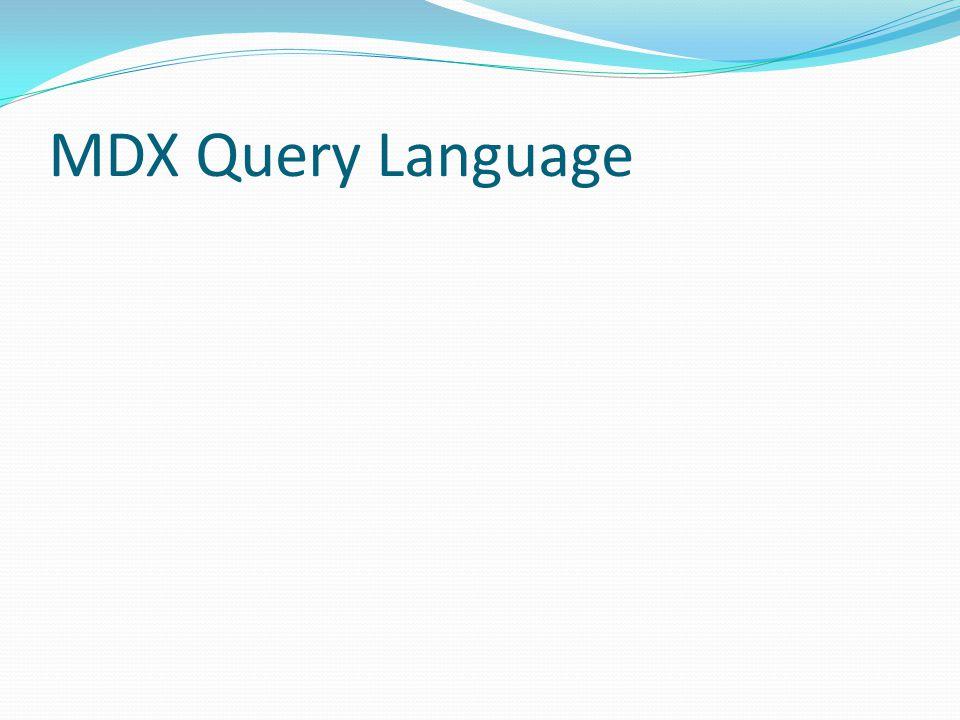 MDX Query Language