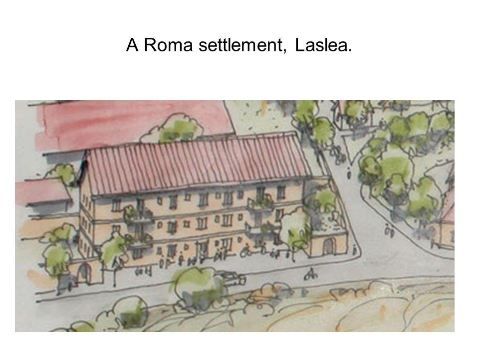 A Roma settlement, Laslea.