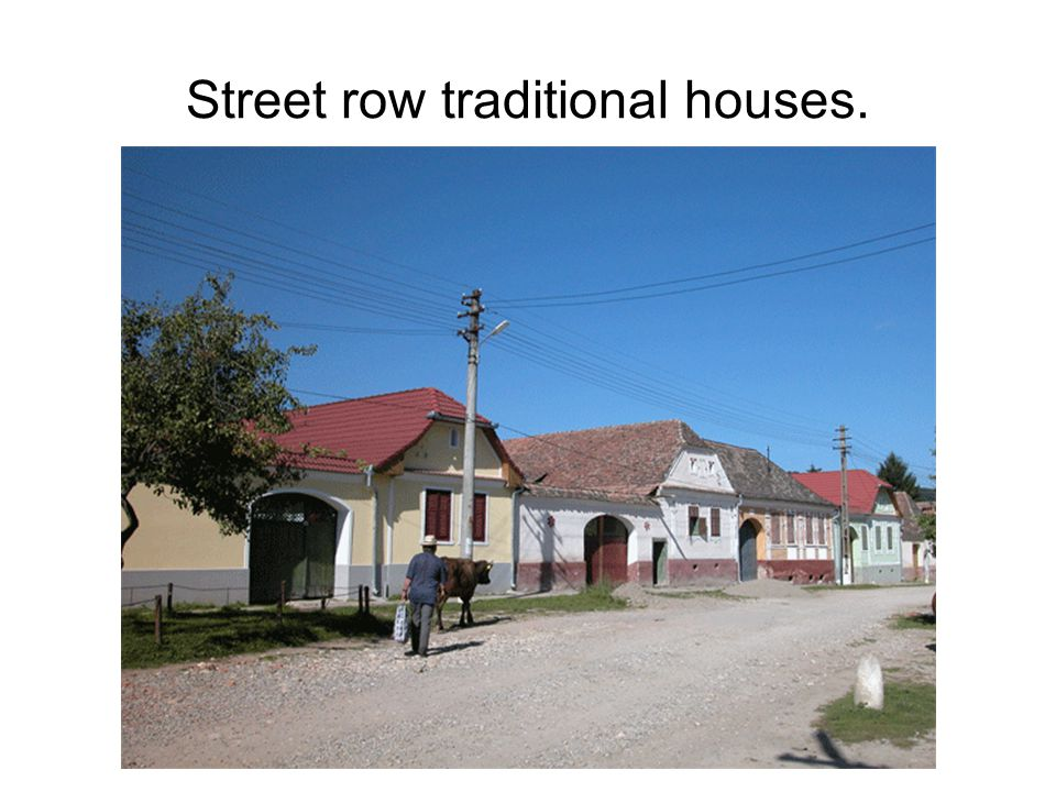 Street row traditional houses.
