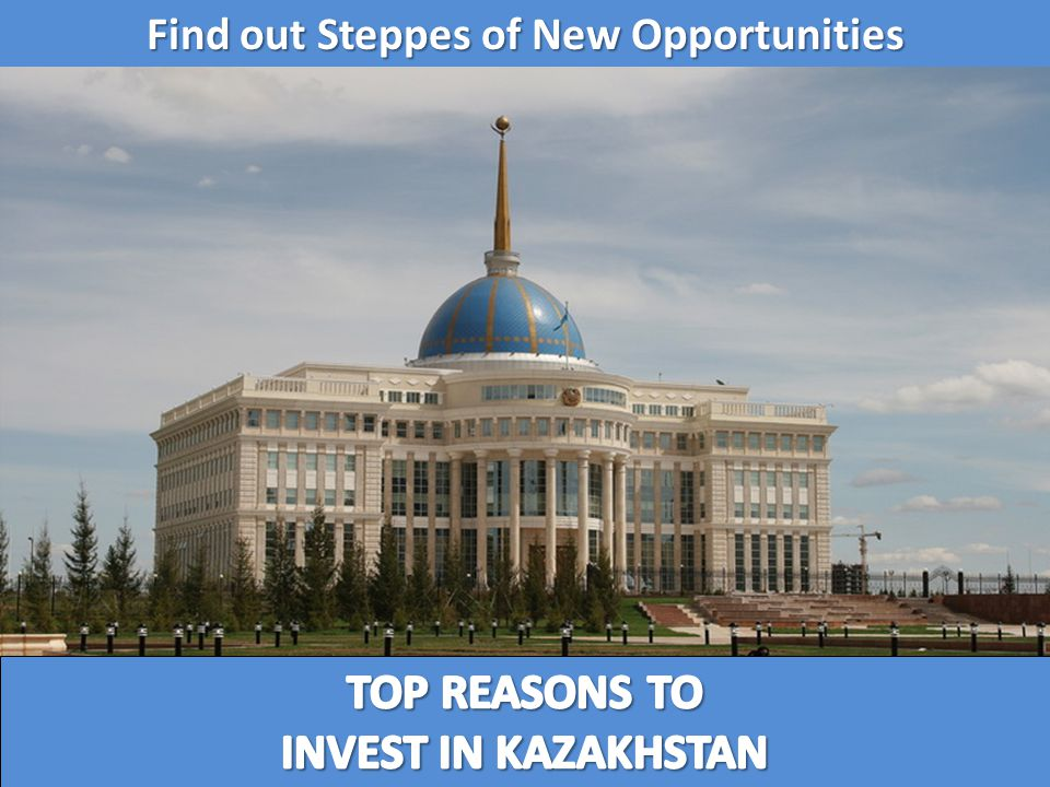 Creation of favorable climate Export promotion Investor protection INVESTOR Promotion of investment opportunities National Agency for Export and Investments «KAZNEX INVEST» – your partner in Kazakhstan Support of foreign investors and providing services one-stop shop Our contacts: www.kaznex.kz Tel.: +7 (7172) 791-718 Fax: +7 (7172) 791-719 E-mail: info@kaznex.kz Ministry of Industry and New Technologies KAZNEX INVEST