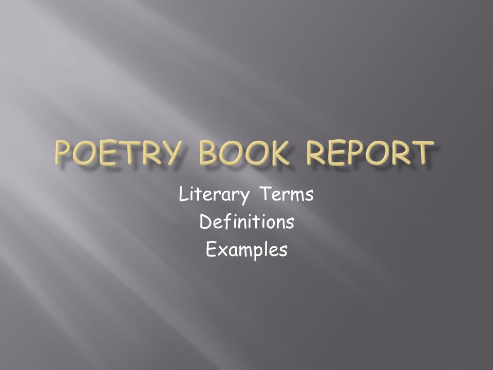 Literary Terms Definitions Examples
