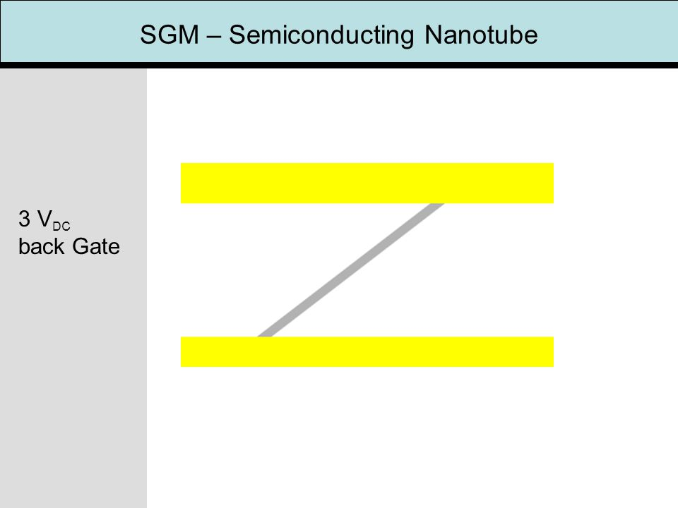 SGM – Semiconducting Nanotube 3 V DC back Gate