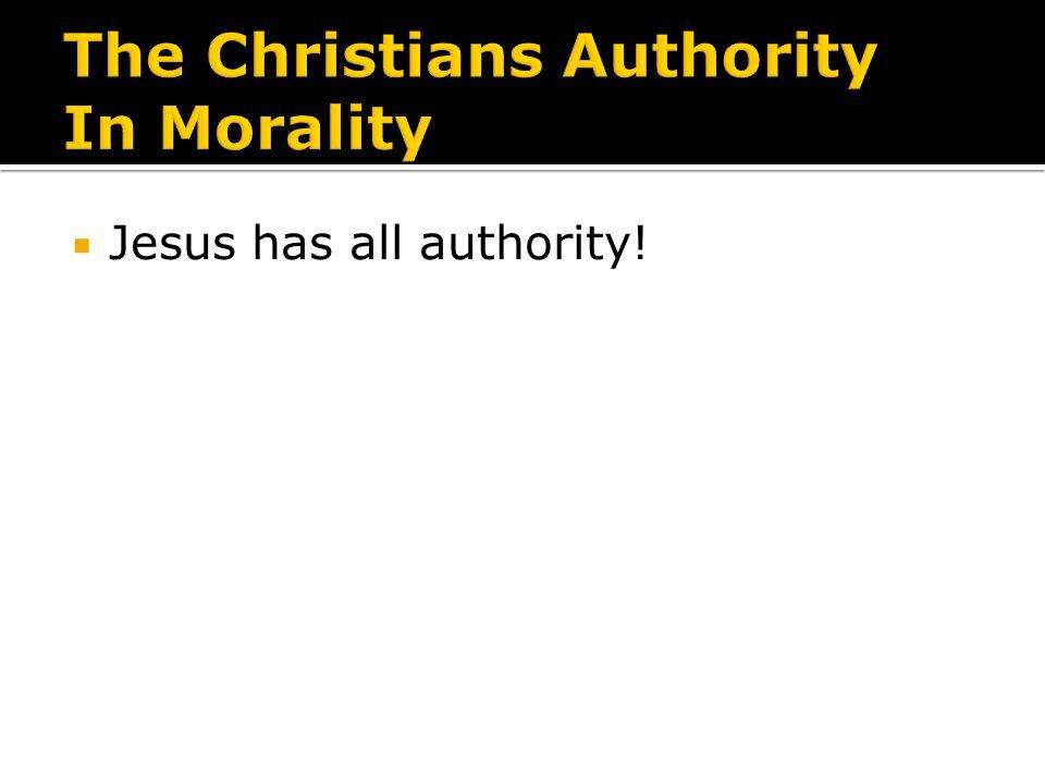 Jesus has all authority!