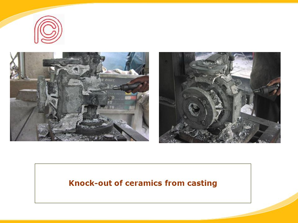 Knock-out of ceramics from casting